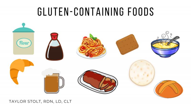 gluten containing foods
