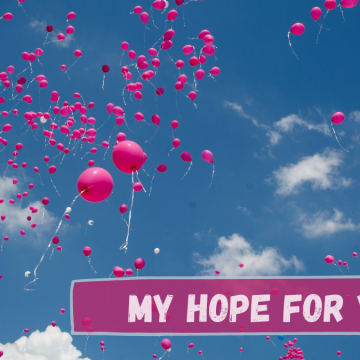 balloons in the clouds with text, my hope for you