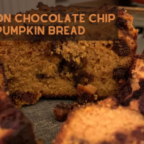cinnamon chocolate chip pumpkin bread