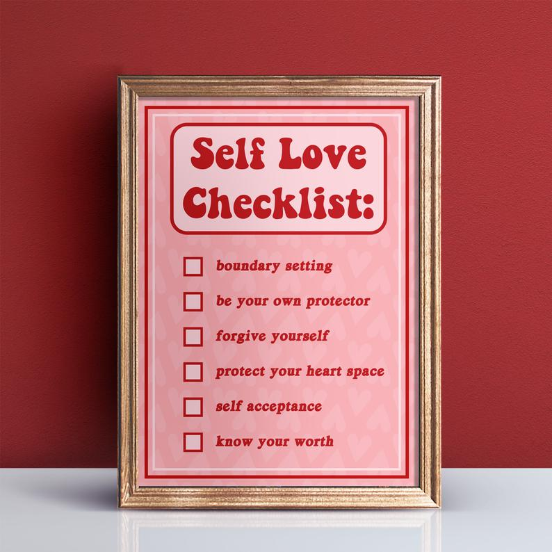 self-love as medicineself-love checklist